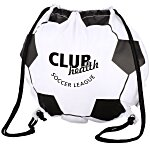 Game Time! Soccer Ball Drawstring Backpack - 24 hr