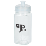 Clear Impact Squared-Up Sport Bottle - 16 oz.