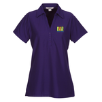 Vertical Texture Performance Pique Polo - Ladies'