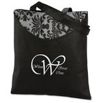 Designer Print Scoop Tote - Black Lace