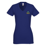 District Concert V-Neck Tee - Ladies' - Colors - Emb