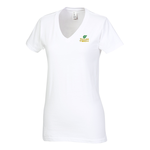 District Concert V-Neck Tee - Ladies' - White - Emb
