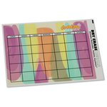 Removable Monthly Calendar Decal - Watercolor