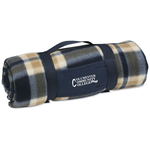 Galloway Travel Blanket – Blue/Cream Plaid