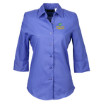 Soft Collar  Sleeve Poplin Shirt  Ladies - 24 hr