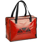 Laminated Polypropylene Zippered Box Tote-Closeout