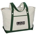 Canvas 12 oz. Sailing Zip Top Tote - 24