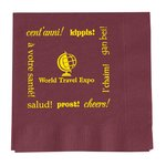 Colorware Beverage Napkin - 2-ply - Color - Low Qty - Cheers