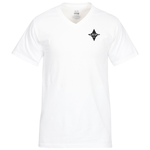 Fruit of the Loom HD V-Neck T-Shirt Men's - Screen - White