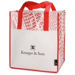 Laminated Thank You Big Grocery Tote - Closeout