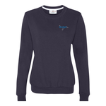 Anvil Fashion Crew Sweatshirt - Ladies' - Embroidery