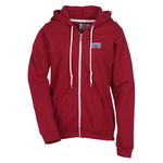 Anvil Fashion Full Zip Hoodie - Ladies' - Embroidery