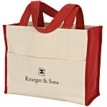 Cotton Gusset 14 oz. Accent Box Tote