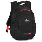 Case Logic Cross-Hatch Laptop Backpack - Emb