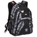 High Sierra Swerve Laptop Backpack-Plaid - Embroidered