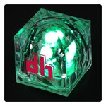 Crystal Light Up Ice Cube - Green