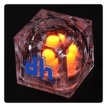 Crystal Light Up Ice Cube - Orange