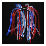 LED Noodle Headband - Red, White & Blue