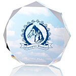 Enterprise Octagon Acrylic Award - Full Color