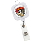 "Jumbo Retractable Badge Holder - 40"" - Square w/Lanyard Ring"