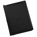 Manchester Zippered Padfolio - Debossed
