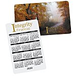 Plastic Calendar Card - Full Color Process