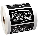 Lapel Sticker by the Roll - Rectangle - 3-1/2