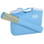 Beach Tote with Natural Fiber Mat