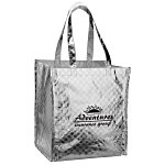 Metallic Gloss Checkered Designer Tote - 13