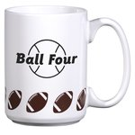 Sports Ceramic Mug - 15 oz. - Football