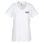Hanes ComfortSoft V-Neck Tee - Ladies' - White