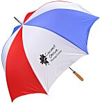 Budget-Beater Golf Umbrella - Red/White/Blue - 24 hr