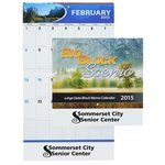 Big Block Scenic Calendar - Stapled - 24 hr