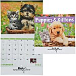 Puppies & Kittens Calendar - Stapled - 24 hr