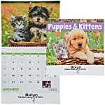 Puppies & Kittens Calendar - Spiral - 24 hr