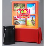 Backlit HopUp Curved Tabletop Display - 5'