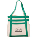 Rugby Stripe Boat Tote