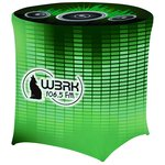 UltraFit Table Cover - Round  - Cafe Height - Full Color