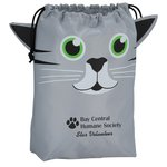 Paws and Claws Drawstring Gift Bag - Kitten