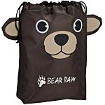 Paws and Claws Drawstring Gift Bag - Bear