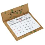 V Natural 3 month 2014 Pop-up Calendar-Leaves-Closeout