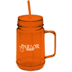 Double Wall Mason Jar Mug- 24 oz.