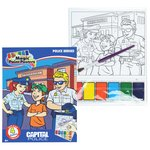 Paint Poster Book - Police Heroes