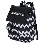 In Print Rucksack Backpack - Chevron