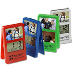 Clip it LCD Picture Frame Stand up Clock