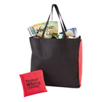 Fold N Zip Shopping Tote