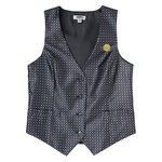 Grid Brocade Vest - Ladies'