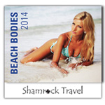 Beach Bodies 13-Month Wall Calendar