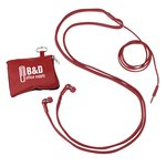 Shoelace Ear Buds with Pouch
