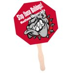 Hand Fan - Stop Sign - Full Color